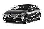2016 Mercedes Benz A-Class Fascination 5 Door Hatchback Angular Front stock photos of front three quarter view