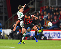 Felix Passlack of Norwich City gets a foot in to the tackle with Andrew Surman of AFC Bournemouth during AFC Bournemouth vs Norwich City, Caraboa Cup Football at the Vitality Stadium on 30th October 2018