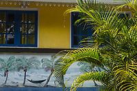 France, île de la Réunion, Saint Joseph, Manapany les Bains, détail case  // France, Ile de la Reunion (French overseas department), Saint Joseph, Manapany les Bains