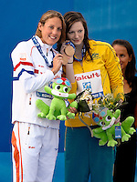 Roma 2nd August 2009 - 13th Fina World Championships .From 17th to 2nd August 2009.Women's 50 Breastroke.Magdalena VELDHUIS (NED) and Cate CAMPBELL (AUS) Bronze Medal.Roma2009.com/InsideFoto/SeaSee.com . .Foto Andrea Staccioli Insidefoto