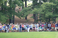 Rory McIlroy (NIR) plays his 2nd shot from the rough on the 2nd hole during Friday's Round 2 of the 2017 PGA Championship held at Quail Hollow Golf Club, Charlotte, North Carolina, USA. 11th August 2017.<br /> Picture: Eoin Clarke | Golffile<br /> <br /> <br /> All photos usage must carry mandatory copyright credit (&copy; Golffile | Eoin Clarke)