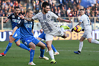 Luca Antonelli of Empoli and Matteo Politano of Internazionale compete for the ball during the Serie A 2018/2019 football match between Empoli and Internazionale at stadio Castellani, Empoli, December, 29, 2018 <br /> Foto Andrea Staccioli / Insidefoto
