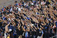 STANFORD, CA - JUNE 29: Supporters during a Major League Soccer (MLS) match between the San Jose Earthquakes and the LA Galaxy on June 29, 2019 at Stanford Stadium in Stanford, California.