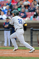 Beloit Snappers first baseman Matt Olson #21 during a game against the Kane County Cougars on May 26, 2013 at Fifth Third Bank Ballpark in Geneva, Illinois.  Beloit defeated Kane County 6-5.  (Mike Janes/Four Seam Images)