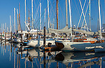 Port Townsend, Washington:<br /> Boats and reflections at the Port Townsend Marina on Puget Sound