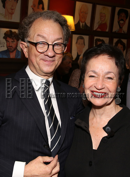 William Ivey Long and Lynn Ahrens attend the William Ivey Long Sardi's portrait unveiling and 70th Birthday Party at Sardi's Restaurant on August 30, 2017 in New York City.