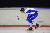 SCHAATSEN: HEERENVEEN: 05-10-2013, IJsstadion Thialf, Trainingwedstrijd, 5000m, Sam Boom, ©foto Martin de Jong
