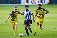 Sheffield Wednesday's Massimo Luongo holds off the challenge from Watford's Tom Cleverley<br /> <br /> Photographer Alex Dodd/CameraSport<br /> <br /> The EFL Sky Bet Championship - Sheffield Wednesday v Watford - Saturday 19th September 2020 - Hillsborough Stadium - Sheffield <br /> <br /> World Copyright © 2020 CameraSport. All rights reserved. 43 Linden Ave. Countesthorpe. Leicester. England. LE8 5PG - Tel: +44 (0) 116 277 4147 - admin@camerasport.com - www.camerasport.com