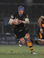 Rugby. High Wycombe, England. James Haskell (Captain) of London Wasps in action during the Amlin Challenge Cup match between London Wasps vs Bayonne at Adams Park on December 13, 2012 in High Wycombe, England.