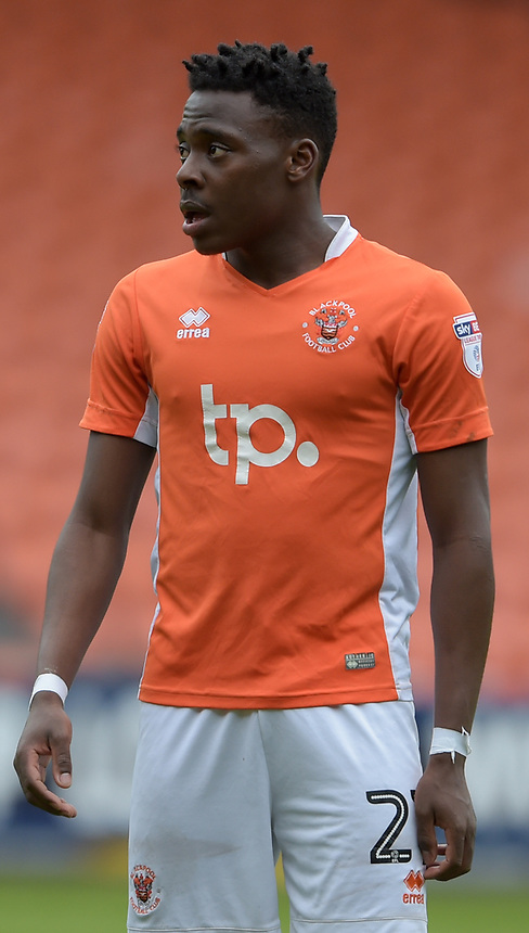 Blackpool's Bright Osayi-Samuel<br /> <br /> Photographer Terry Donnelly/CameraSport<br /> <br /> The EFL Sky Bet League Two - Blackpool v Accrington Stanley - Friday 14th April 2017 - Bloomfield Road - Blackpool<br /> <br /> World Copyright &copy; 2017 CameraSport. All rights reserved. 43 Linden Ave. Countesthorpe. Leicester. England. LE8 5PG - Tel: +44 (0) 116 277 4147 - admin@camerasport.com - www.camerasport.com