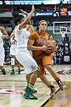guard Celina Rodrigo (2) drives it in during Big 12 women's basketball championship final, Sunday, March 08, 2015 in Dallas, Tex. (Dan Wozniak/TFV Media via AP Images)