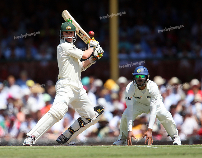 Test Series Australia V India, Day 2, 2nd Test at the SCG, 3rd Jan 2008.