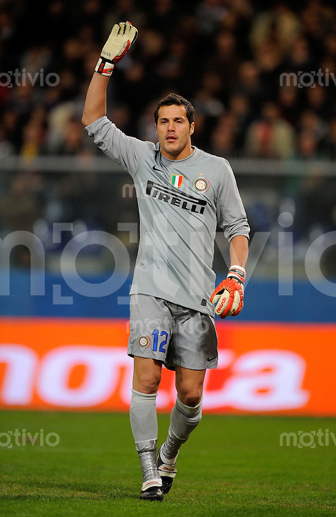 FUSSBALL INTERNATIONAL   SERIE A   SAISON 2009/2010    FC Genua 1893 - Inter Mailand               17.10.2009 Julio Cesar (Inter Mailand)