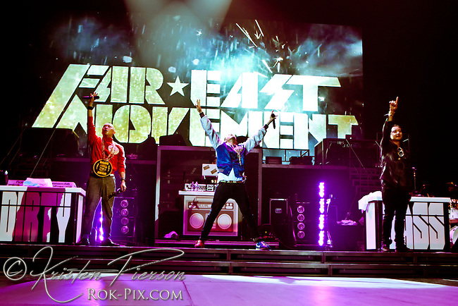 Far East Movement perform at Mohegan Sun Arena on June 28, 2012.