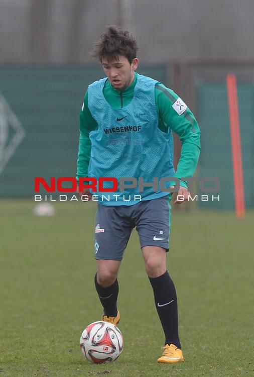 25.03.2015, Trainingsgelaende, Bremen, GER, 1.FBL, Training Werder Bremen, im Bild Julian von Haacke (Bremen #26)<br /> <br /> Foto &copy; nordphoto / Frisch
