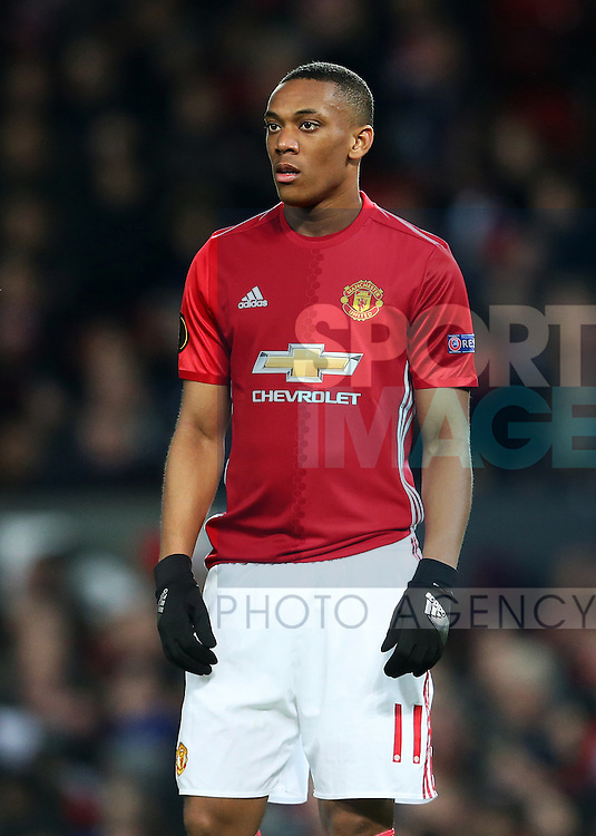 Anthony Martial of Manchester United during the UEFA Europa League Round of 32 1st leg match at Old Trafford Stadium, Manchester. Picture date: February 16th, 2017. Pic credit should read: Matt McNulty/Sportimage