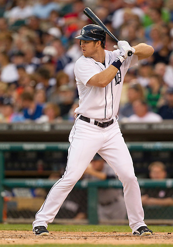 August 08, 2012:  Detroit Tigers outfielder Brennan Boesch (26) at bat during MLB game action between the New York Yankees and the Detroit Tigers at Comerica Park in Detroit, Michigan.  The Yankees defeated the Tigers 12-8.