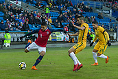 23rd March 2018, Ullevaal Stadion, Oslo, Norway; International Football Friendly, Norway versus Australia; Mohamed Elyounossi of Norway manoeuvres crosses into the box