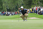Martin Kaymer (GER) lines up his putt at the 16th green during Day 1 of the BMW International Open at Golf Club Munchen Eichenried, Germany, 23rd June 2011 (Photo Eoin Clarke/www.golffile.ie)