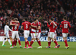 Middlesbrough celebrate there teams first goal of the game during the English Premier League match at Riverside Stadium, Middlesbrough. Picture date: April 26th, 2017. Pic credit should read: Jamie Tyerman/Sportimage
