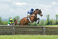21 April 2012:    G'Day G'Day and Carl Rafter win the Middleburg Hunt Cup at Middleburg Spring Races at Glenwood Park in Middleburg, Va. G'Day G'Day is owned by Magalen O. Bryant and trained by Doug Fout.  Susan M. Carter/Eclipse Sportswire