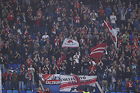 Salzburg supporters cheer on<br /> Napoli 05-11-2019 Stadio San Paolo <br /> Football Champions League 2019/2020 Group E<br /> SSC Napoli - FC Salzburg<br /> Photo Cesare Purini / Insidefoto