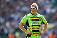 Dylan Hartley of Northampton Saints looks on during a break in play. Aviva Premiership match, between Saracens and Northampton Saints on September 2, 2017 at Twickenham Stadium in London, England. Photo by: Patrick Khachfe / JMP