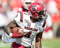 ATHENS, GA - OCTOBER 12: Tavien Feaster #4 of the South Carolina Gamecocks during a game between University of South Carolina Gamecocks and University of Georgia Bulldogs at Sanford Stadium on October 12, 2019 in Athens, Georgia.
