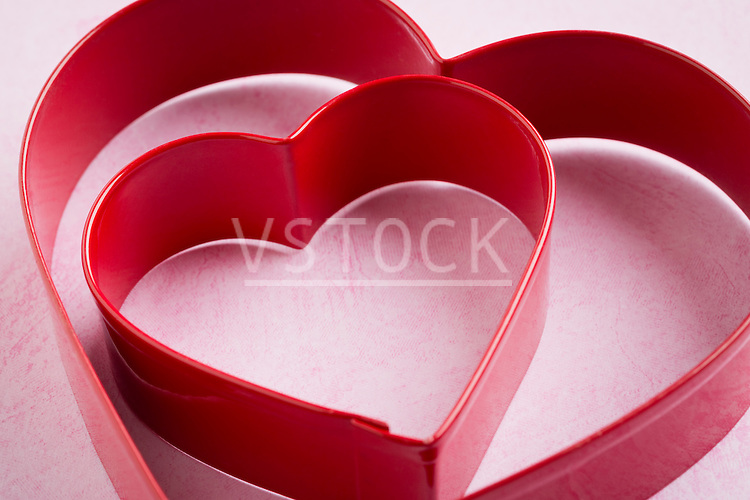 Heart-shaped pastry cutters