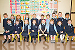 FIRST DAY: Pupils from Ballylongford National School, enjoying their first day of school were front l-r: Nancy, Kate, Emily, Sarah, Madisonn, Caoimhe, Hazel and Anna. Back l-r: Dan, Amy, Dylan, Chloe, Gillian, Fionn, Cathal, Adam, Luke and Zak.