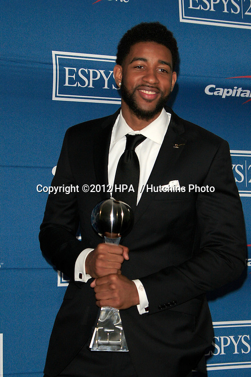 LOS ANGELES - JUL 11:  Christian Watford in the Press Room of the 2012 ESPY Awards at Nokia Theater at LA Live on July 11, 2012 in Los Angeles, CA