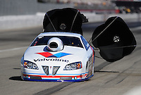 Nov 13, 2010; Pomona, CA, USA; NHRA pro stock driver Ron Krisher during qualifying for the Auto Club Finals at Auto Club Raceway at Pomona. Mandatory Credit: Mark J. Rebilas-