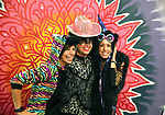 L to R Nikki Raymor from Reno, Robin Graber Carson City and Kat Isaacson from Reno have their photo taken at the Image Factory Photo booth as dozens of artists from around the state of Nevada who performed or demonstrating their crafts at the annual Capital Collage in Carson City, Nev., on Friday, October 27, 2017. <br /> Photo by Lance Iversen/Nevada Momentum
