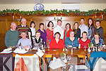 Members of the Duagh choir enjoying their Christmas party last Sunday in Leen's Hotel, Abbeyfeale. F l-r: Joe and Anne Donavan, Maureen McAuliffe, Mary Burns, Marie Carmody, Mary Stack. B l-r: Jack Fitzgerald, Gerard O'Callahan, Kelly Harnett, Jane Anne Sheehy, Ann Marie and Gary O'Keeffe, Norma and Geradine O'Callahan, John Corridan, Esther McElligott and Sheila Collins.