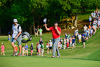 Jon Rahm (ESP) steps on 18 to a roar of the crowd during round 7 of the World Golf Championships, Dell Technologies Match Play, Austin Country Club, Austin, Texas, USA. 3/26/2017.<br /> Picture: Golffile | Ken Murray<br /> <br /> <br /> All photo usage must carry mandatory copyright credit (&copy; Golffile | Ken Murray)