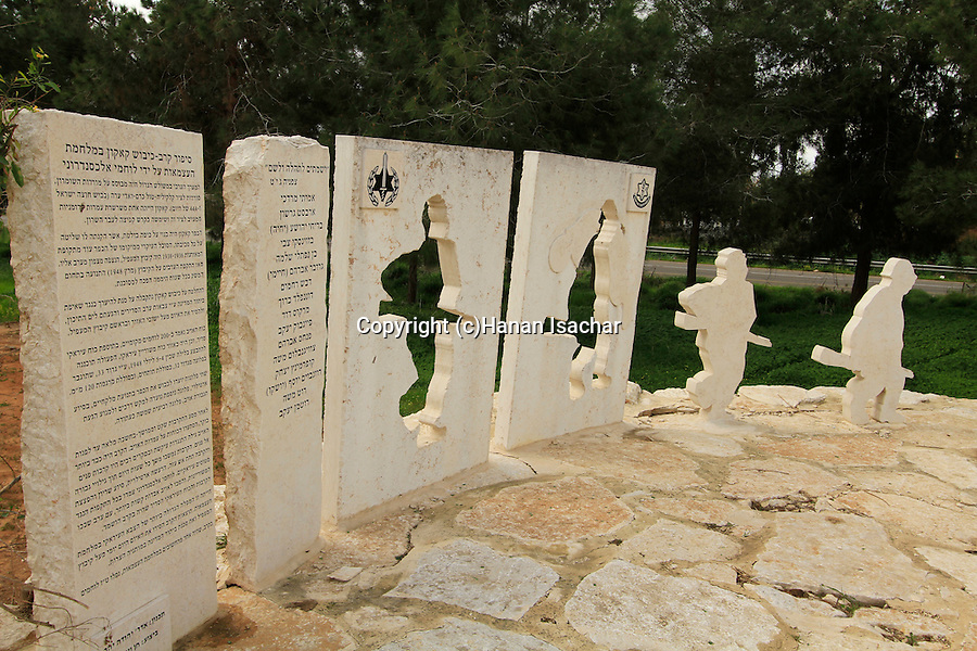 Israel, Sharon region, a memorial to the fallen soldiers of the Alexandroni Brigade in Kakun