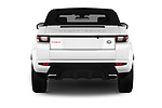 Straight rear view of 2017 Land Rover Range-Rover-Evoque HSE-Dynamic 2 Door SUV Rear View  stock images