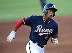 Reno Aces&rsquo; Ketel Marte hits a two-run home run against the Las Vegas 51s in Reno, Nev. on Saturday, June 3, 2017. The 51s won 9-5.<br /> Photo by Cathleen Allison/Nevada Photo Source