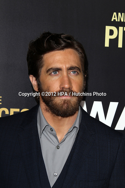 "LOS ANGELES - SEP 17:  Jake Gyllenhaal arrives at the ""End Of Watch"" Premiere at Regal Cinemas L.A. Live on September 17, 2012 in Los Angeles, CA"