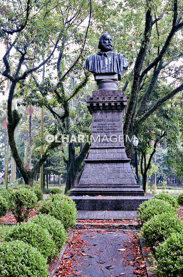 Busto de Giuseppe Garibaldi no Jardim da Luz. Sao Paulo. 2017. Foto © Juca Martims.
