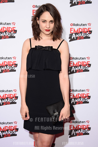 Tuppence Middleton arriving for the Empire Awards 2018 at the Roundhouse, Camden, London, UK. <br /> 18 March  2018<br /> Picture: Steve Vas/Featureflash/SilverHub 0208 004 5359 sales@silverhubmedia.com