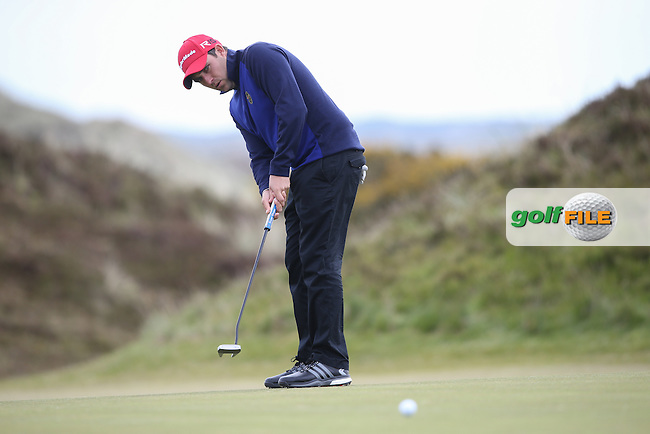 Jason Barnes (ENG) on the 8th green during Round Three of the 2015 Dubai Duty Free Irish Open Hosted by The Rory Foundation at Royal County Down Golf Club, Newcastle County Down, Northern Ireland. 30/05/2015. Picture David Lloyd | www.golffile.ie