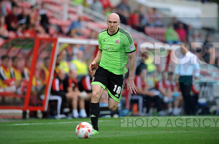 Conor Sammon of Sheffield United<br /> - English League One - Swindon Town vs Sheffield Utd - County Ground Stadium - Swindon - England - 29th August 2015 <br /> --------------------