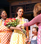 Nicolette Robinson with cast as she makes her Broadway debut in 'Waitress' on September 4, 2081 at the Brooks Atkinson Theatre in New York City.