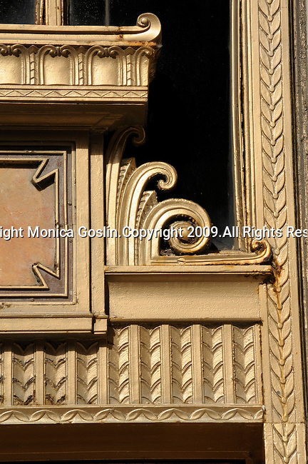 Detail of a door of the Civic Opera House in Chicago, Illionis.