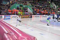 SPEEDSKATING: HAMAR: Vikingskipet, 28-02-2020, ISU World Speed Skating Championships, Sprint, 500m Men, Nico Ihle (GER), Ignat Golovatsiuk (BLR), ©photo Martin de Jong