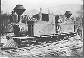 3/4 view of D&amp;RG Vulcan Fairlie 0-4-4-0T #13 (later #101) &quot;Mountaineer&quot; posing with her crews on La Veta Pass.<br /> D&amp;RG  La Veta Pass, CO