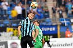 05.08.2019, Carl-Benz-Stadion, Mannheim, GER, 3. Liga, SV Waldhof Mannheim vs. TSV 1860 Muenchen, <br /> <br /> DFL REGULATIONS PROHIBIT ANY USE OF PHOTOGRAPHS AS IMAGE SEQUENCES AND/OR QUASI-VIDEO.<br /> <br /> im Bild: Gianluca Korte (SV Waldhof Mannheim #17) gegen Herbert Paul (TSV 1860 Muenchen #28)<br /> <br /> Foto © nordphoto / Fabisch