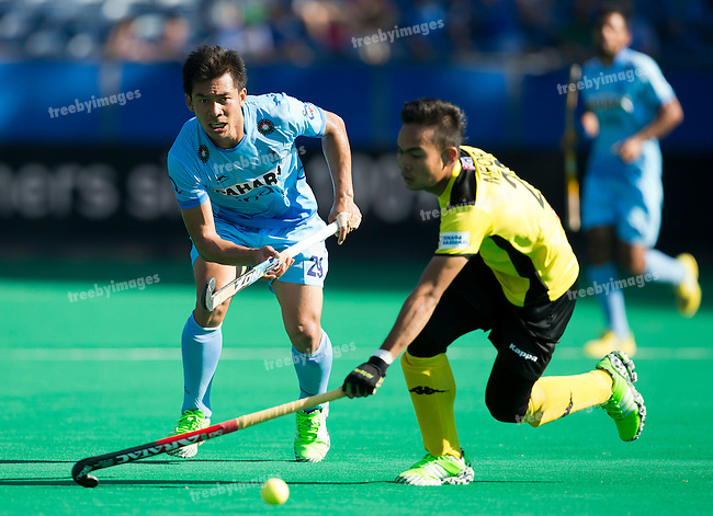 01/07/2015<br /> HWL Semi Final Antwerp Belgium 2015<br /> India v Malaysia Men<br /> Chinglensana Kangujam<br /> Photo: Grant Treeby