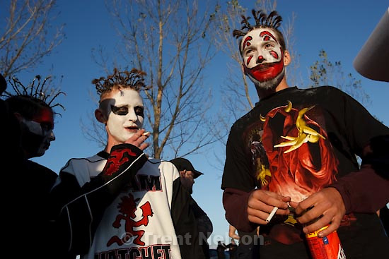 Trent Nelson  |  The Salt Lake Tribune.Insane Clown Posse performs at The Great Salt Air (Saltair) Thursday, October 1 2009 west of Salt Lake City. juggalos